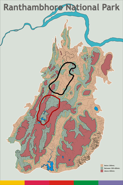 Map of Ranthambore